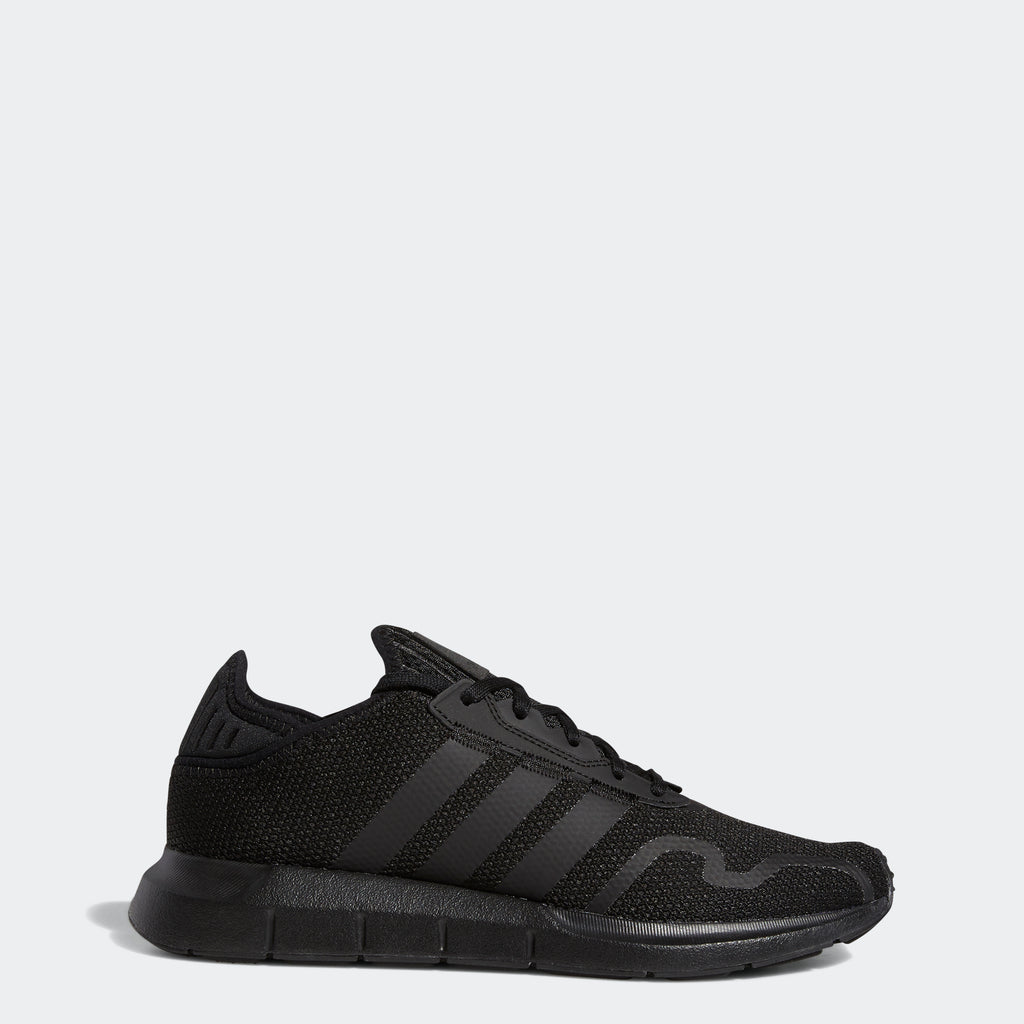 Men's adidas Originals Swift Run X Shoes Triple Black SKU FY2116 | Chicago City Sports | side view