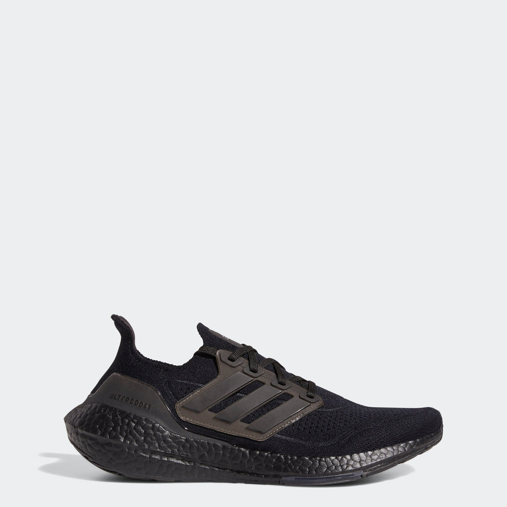 Men's adidas Running Ultraboost 21 Shoes Triple Black (SKU FY0306) | Chicago City Sports | side view