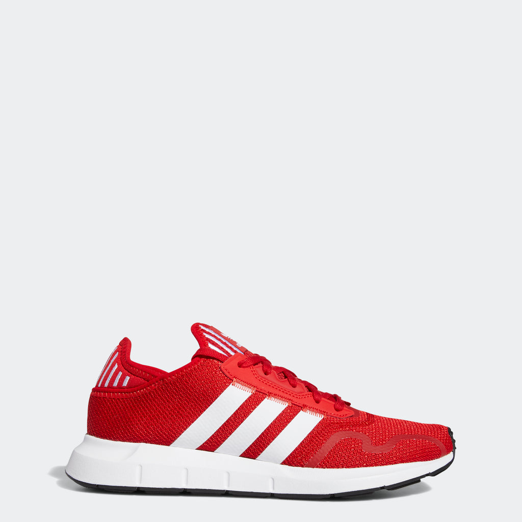 Men's adidas Swift Run X Shoes Scarlet FY2113 | Chicago City Sports | side view