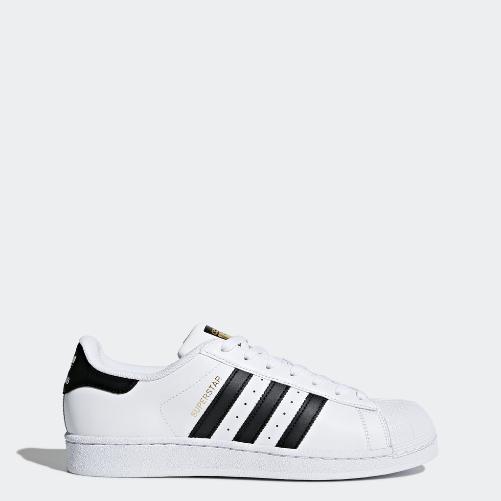 Men's adidas Originals Superstar Shoes White/Black C77124 | Chicago City Sports | side view