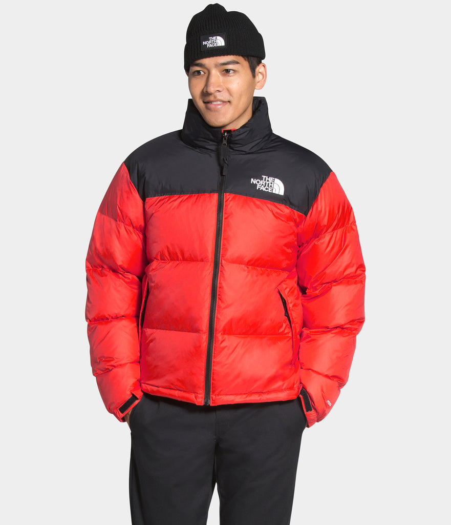 Men's The North Face 1996 Retro Nuptse Jacket Flare Orange | Chicago City Sports | on model view