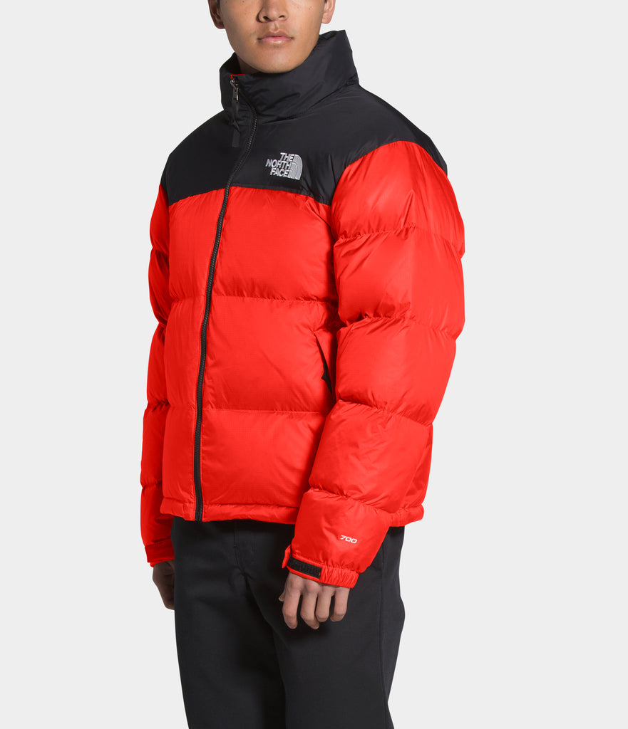 Men's The North Face 1996 Retro Nuptse Jacket Flare Orange | Chicago City Sports | side view