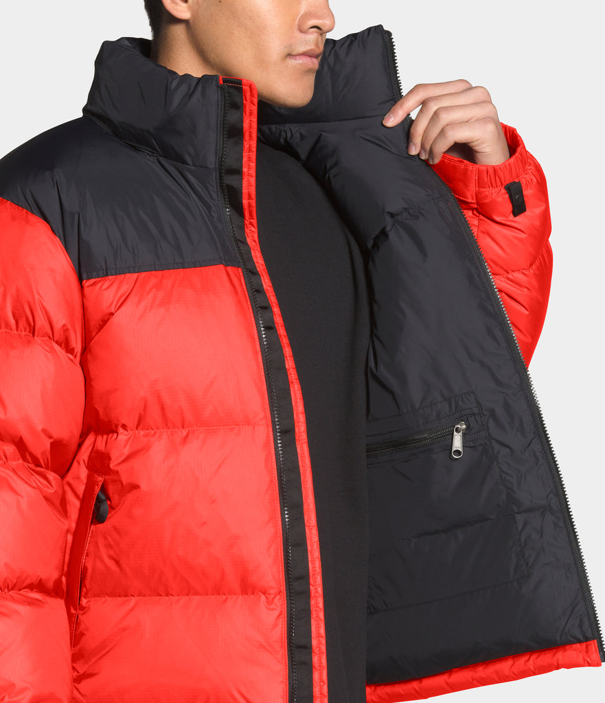Men's The North Face 1996 Retro Nuptse Jacket Flare Orange | Chicago City Sports | inside view