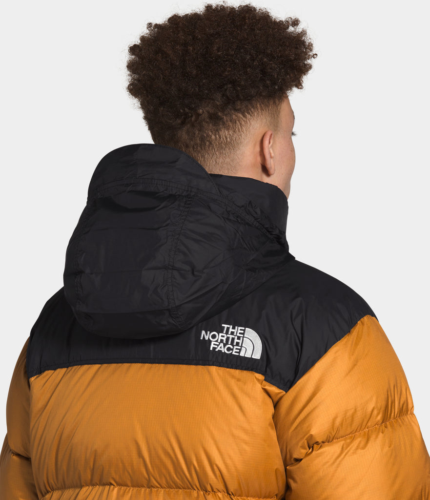 North Face 1996 Retro Nuptse Jacket Timber Tan | Chicago City Sports | hood view