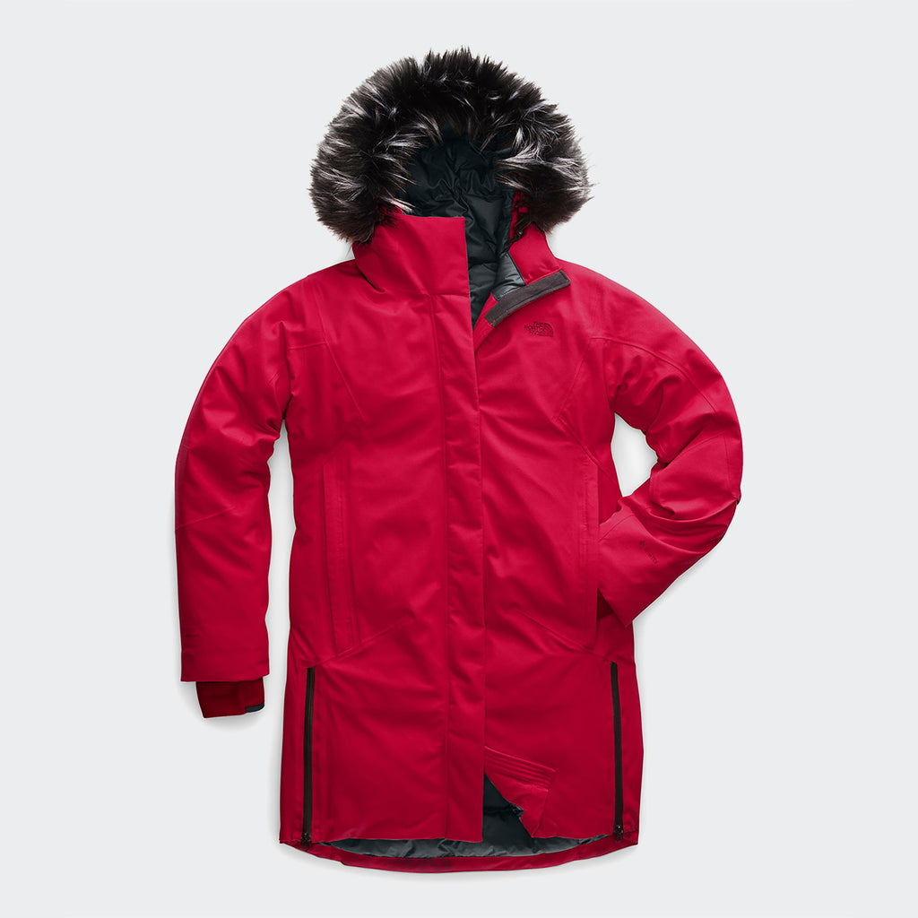 Women's The North Face Defdown Parka GTX Red
