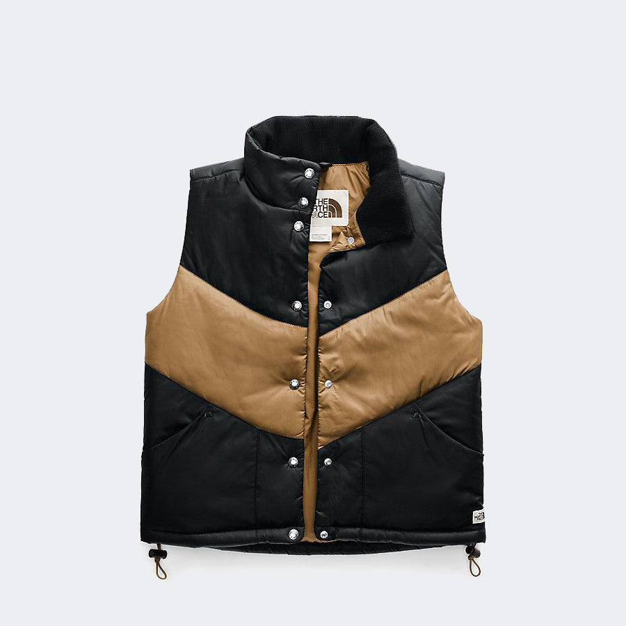Women's The North Face Sylvester Vest Black Cedar Brown