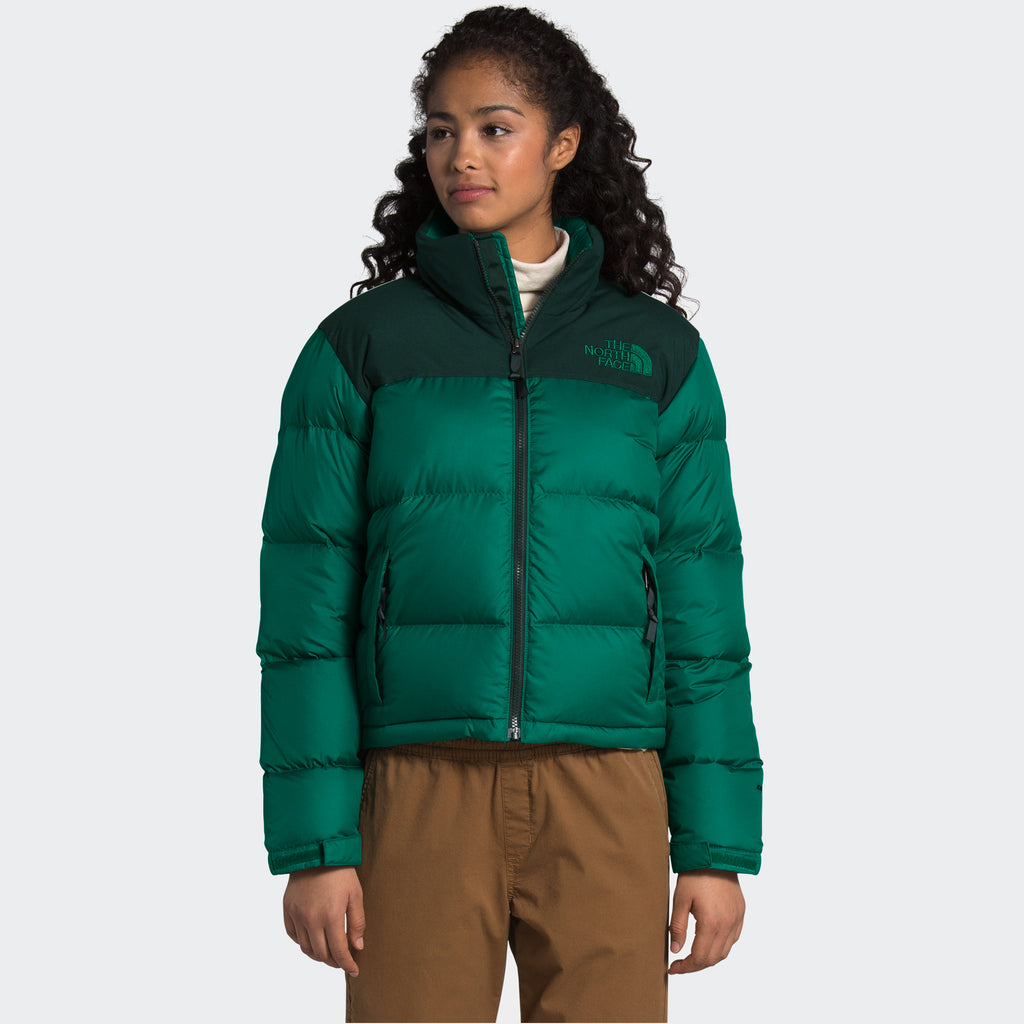 Women's The North Face Eco Nuptse Down Jacket Evergreen