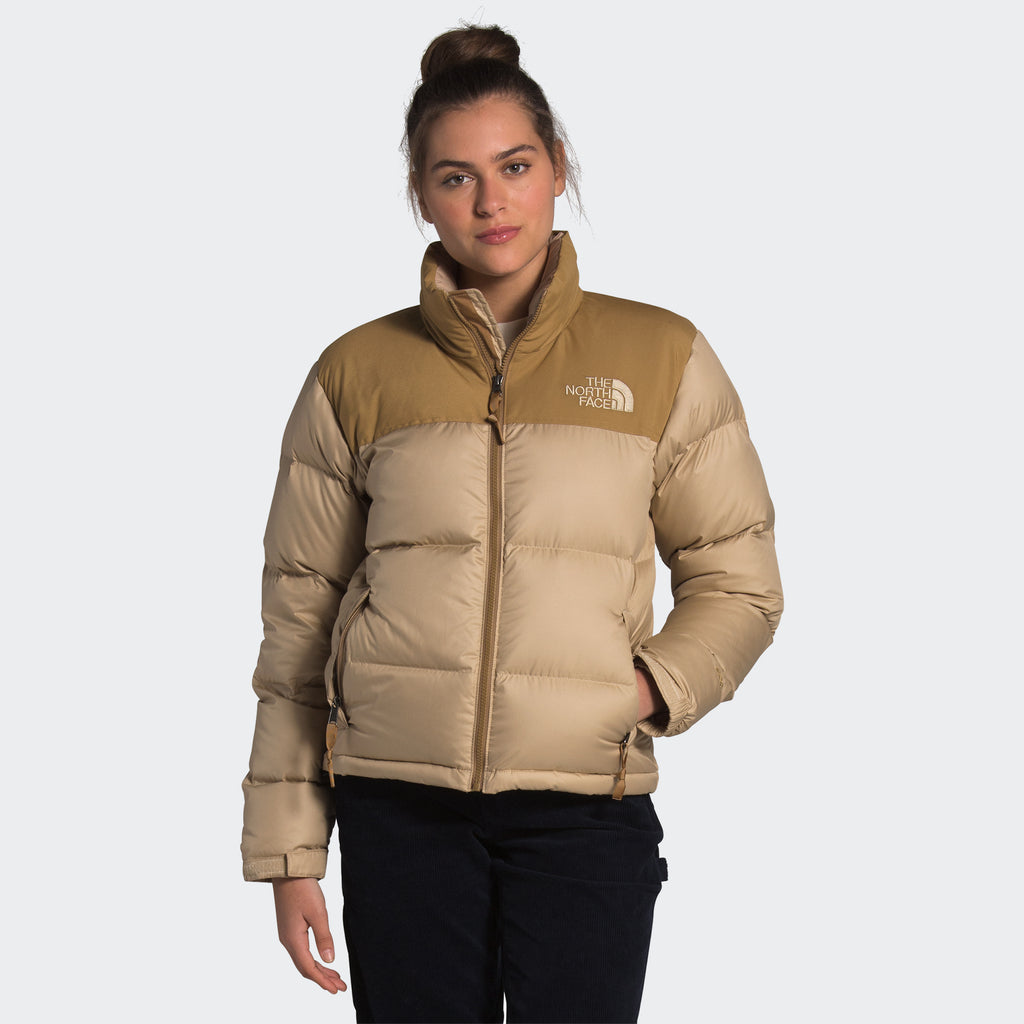 Women's The North Face Eco Nuptse Down Jacket Hawthorne Khaki
