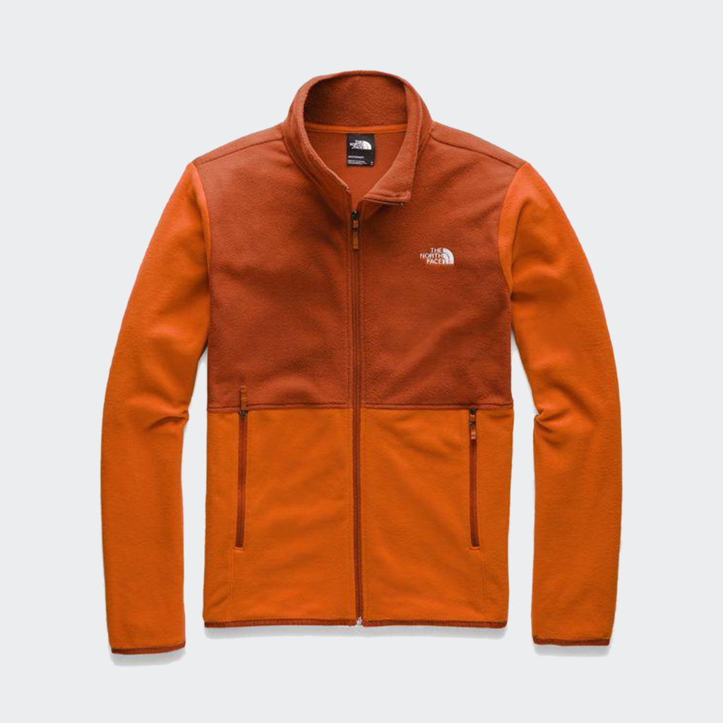 Men's The North Face TKA Glacier Full-Zip Jacket Papaya Orange