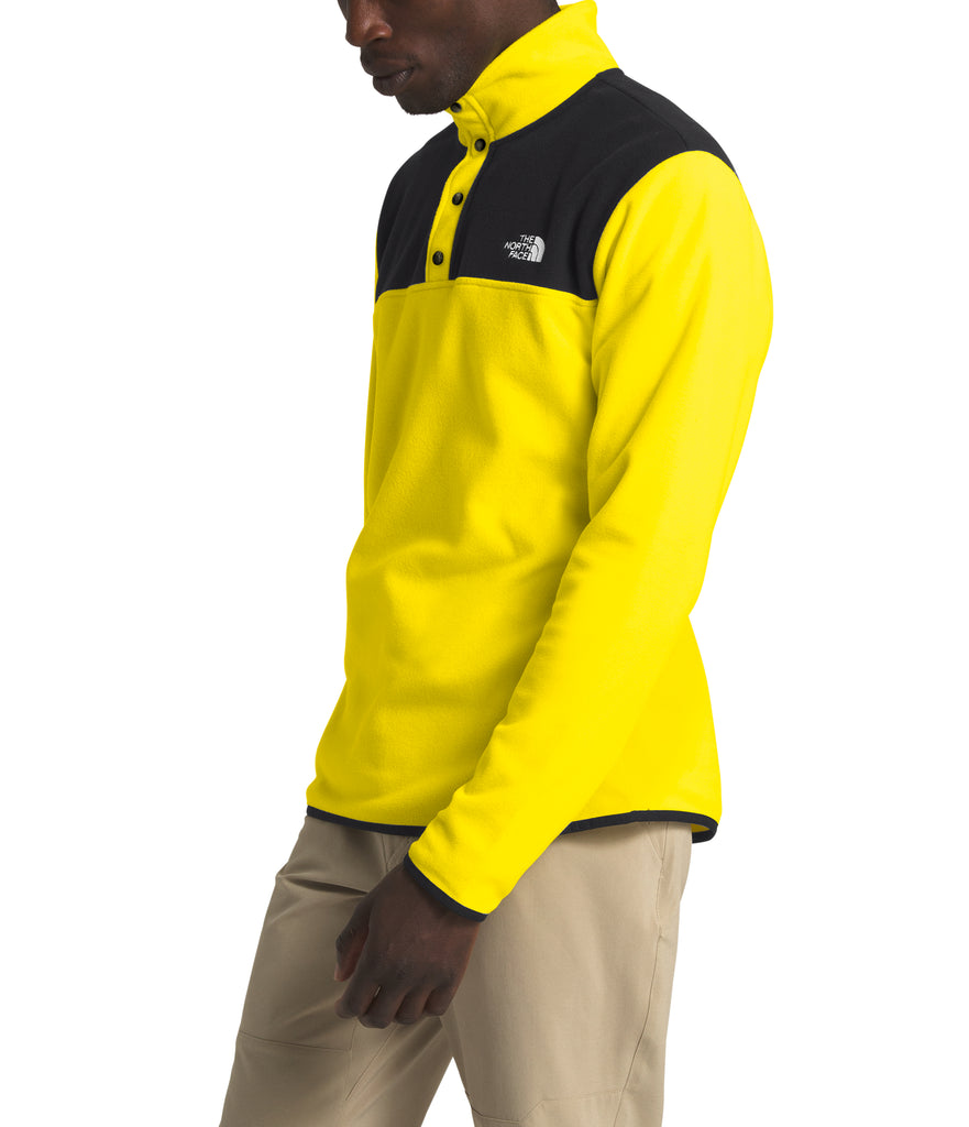 Men's The North Face TKA Glacier Snap-Neck Pullover Lemon