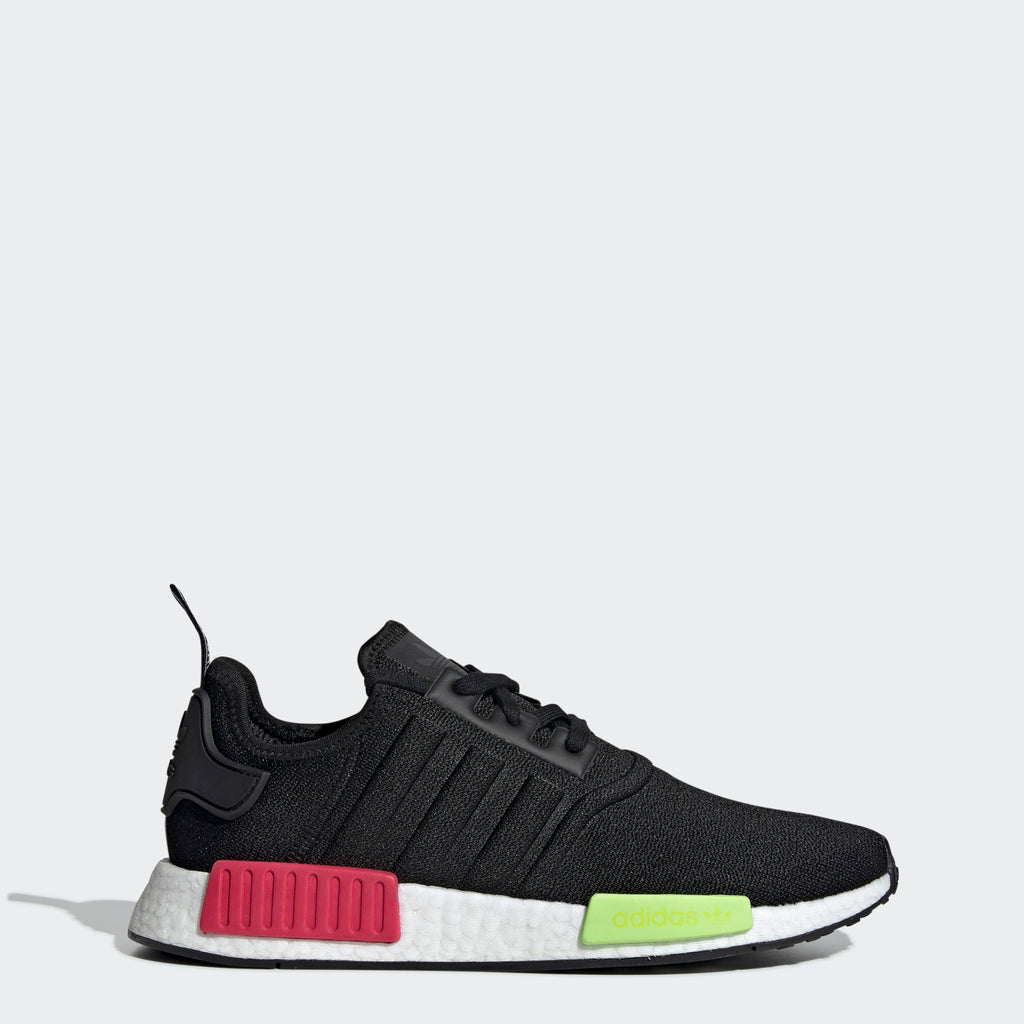 Men's adidas Originals NMD_R1 Shoes Black Energy Pink