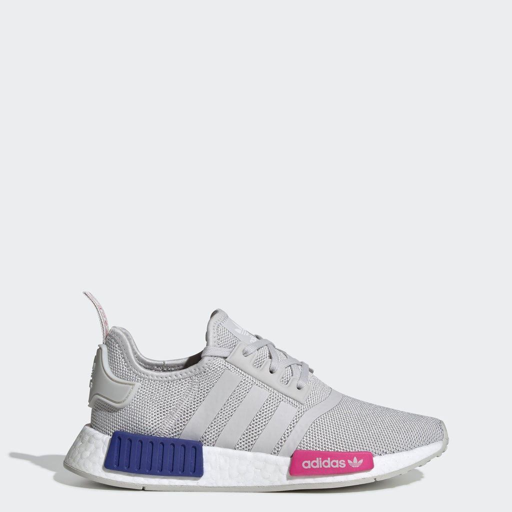 Kid's adidas Originals NMD_R1 Shoes Grey One Shock Pink