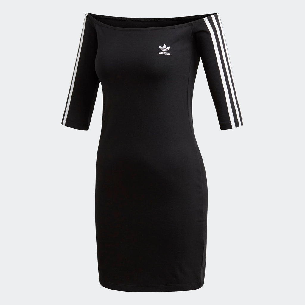 Women's adidas Originals Off-The-Shoulder Dress Black