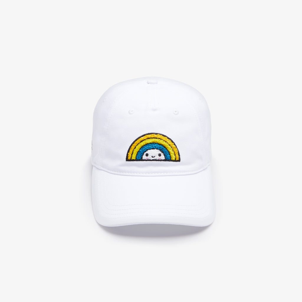 Unisex Lacoste x FriendsWithYou Cotton Cap White (RK0098001) | Chicago City Sports | front view