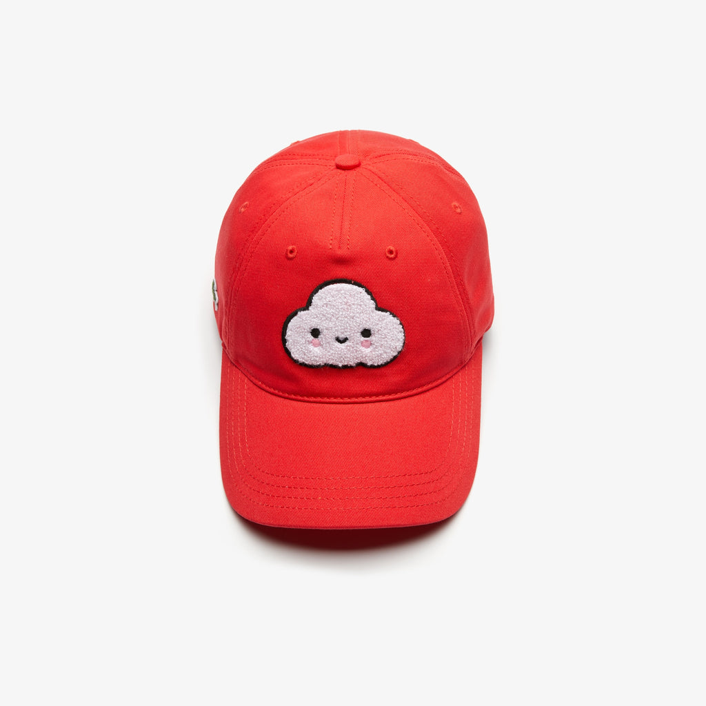Unisex Lacoste x FriendsWithYou Cotton Cap Red