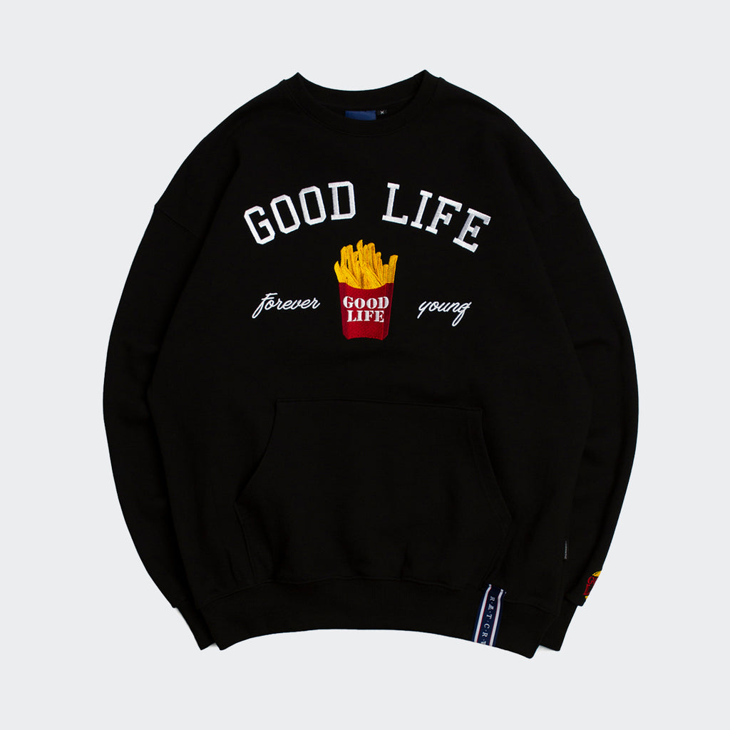 Unisex Romantic Crown 10th Good Life Sweatshirt Black