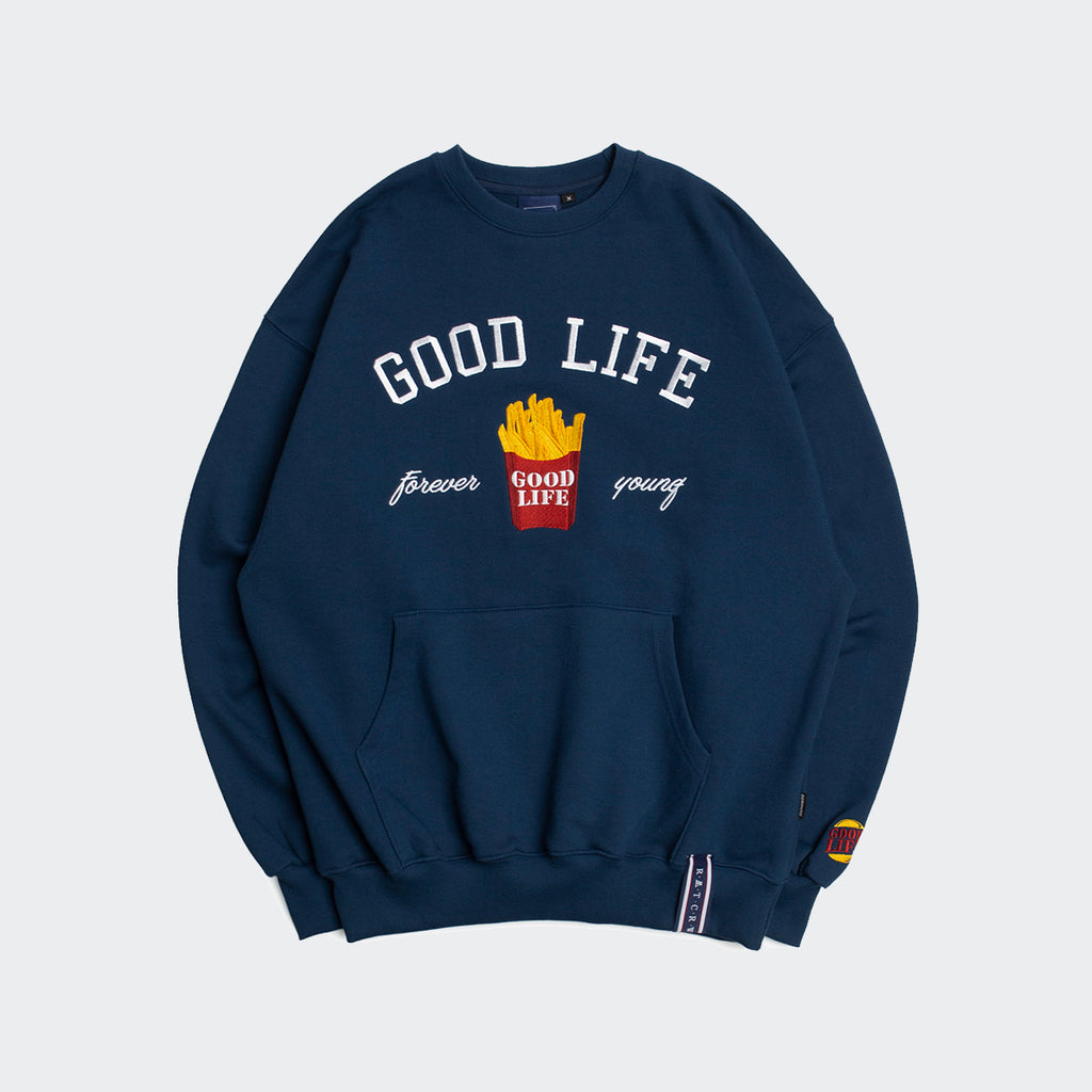 Unisex Romantic Crown 10th Good Life Sweatshirt Blue