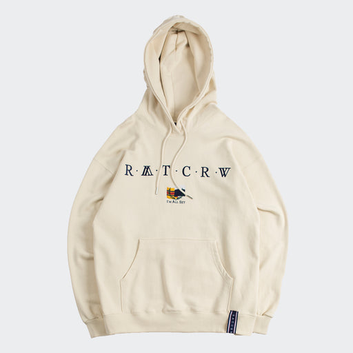 Unisex Romantic Crown RMTCRW Flag Hoodie Oatmeal