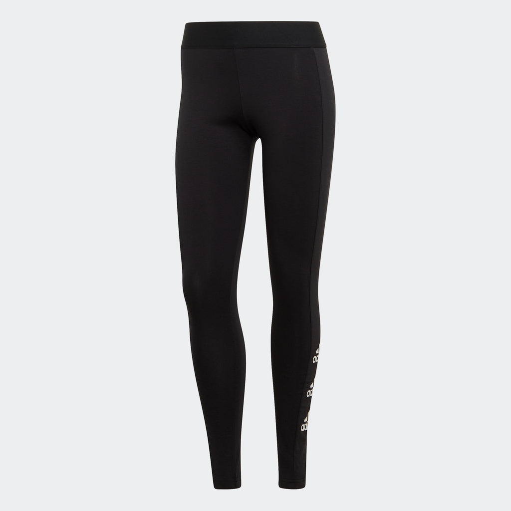 Women's adidas Essentials Stacked Logo Leggings Black FI4632 | Chicago City Sports | front view