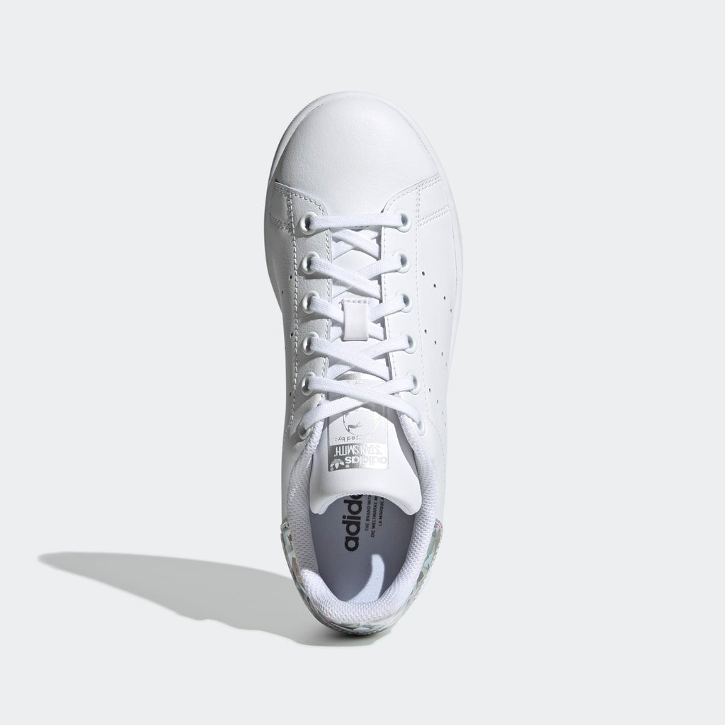 Kid's adidas Originals Stan Smith Shoes White Silver Iridescent
