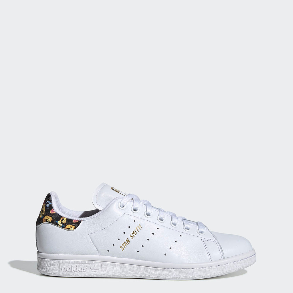 Women's adidas Originals Stan Smith White Gold Floral