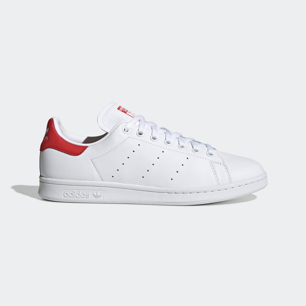 Men's adidas Originals Stan Smith Shoes White Red