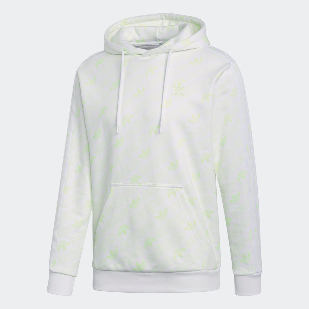 Men's adidas Originals Monogram Pullover Hoodie White