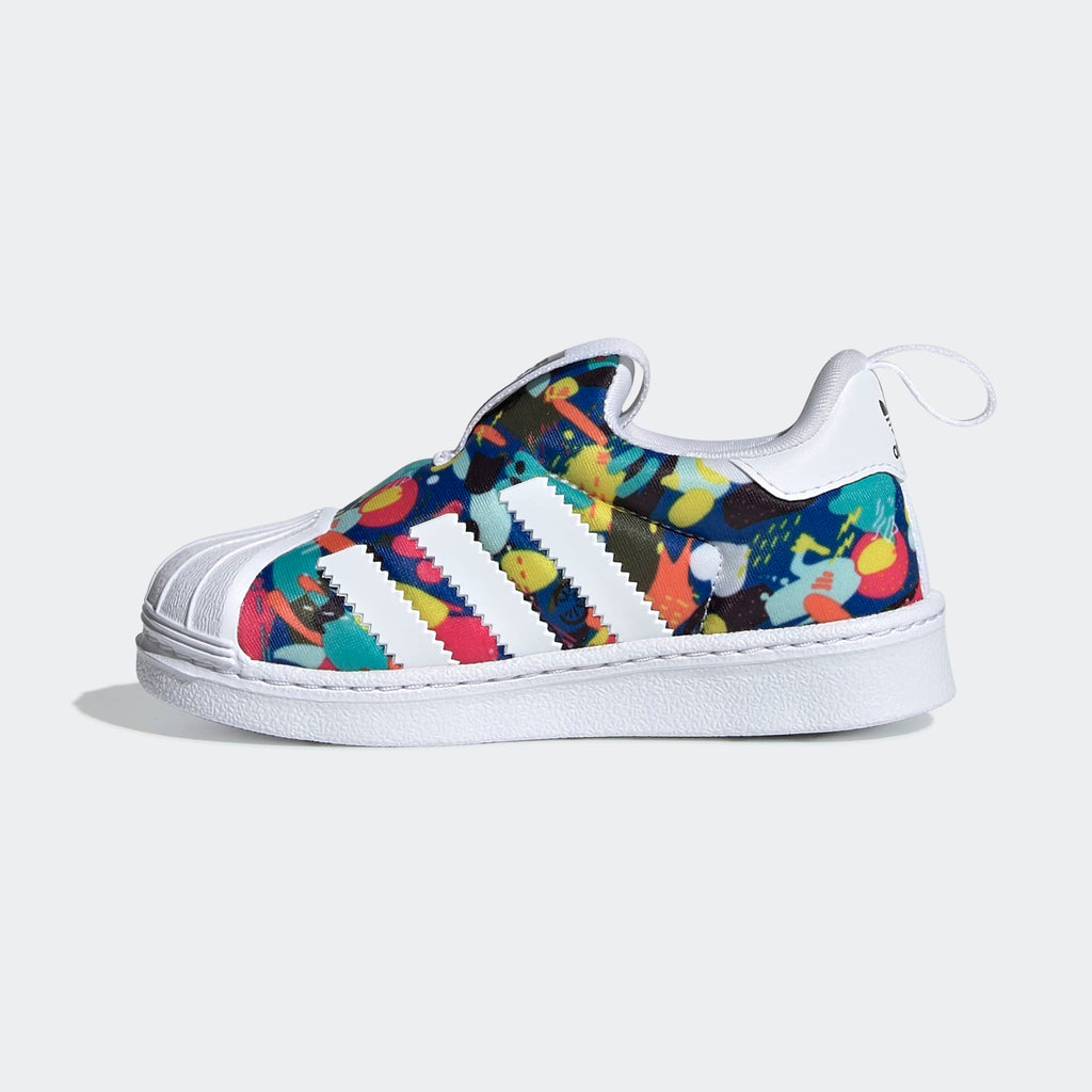 Toddler's adidas Originals Superstar 360 Slip On Sneakers Multicolor