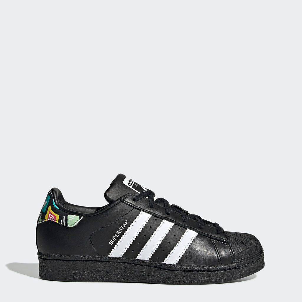 Kid's adidas Originals Superstar Shoes Black Graphics