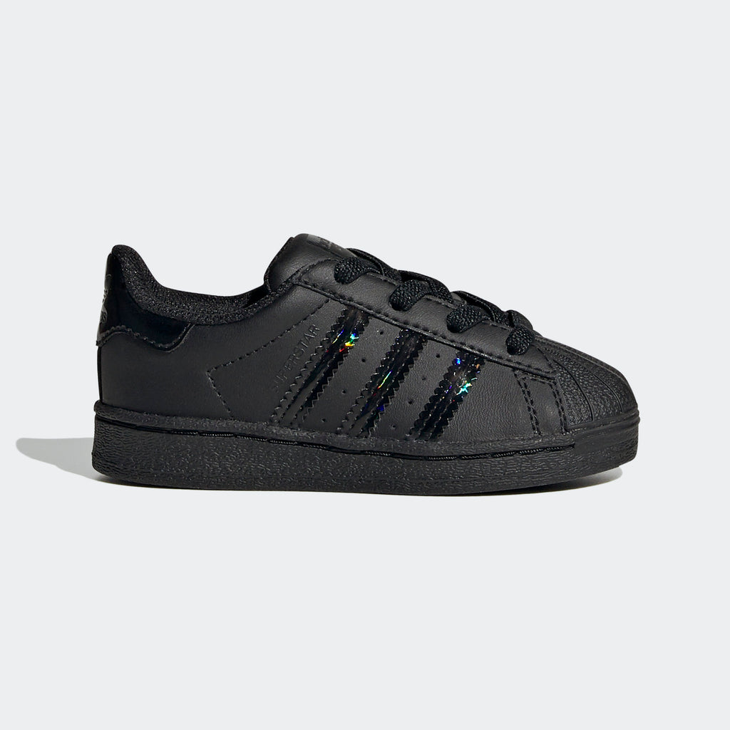 Toddler's adidas Originals Black Iridescent Superstar Shoes
