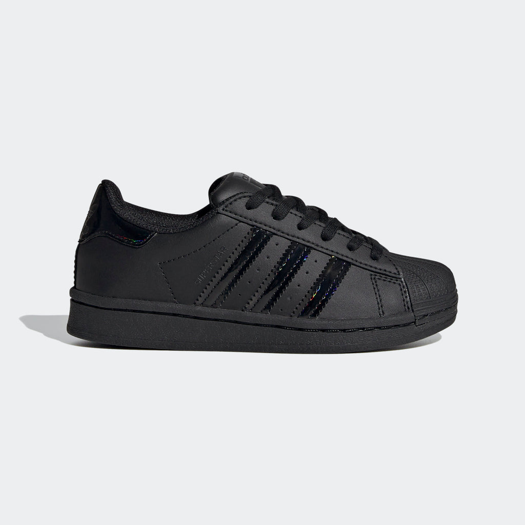 Kid's adidas Originals Black Iridescent Superstar Shoes