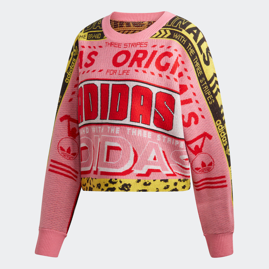 Women's adidas Originals Knit Sweatshirt Pink