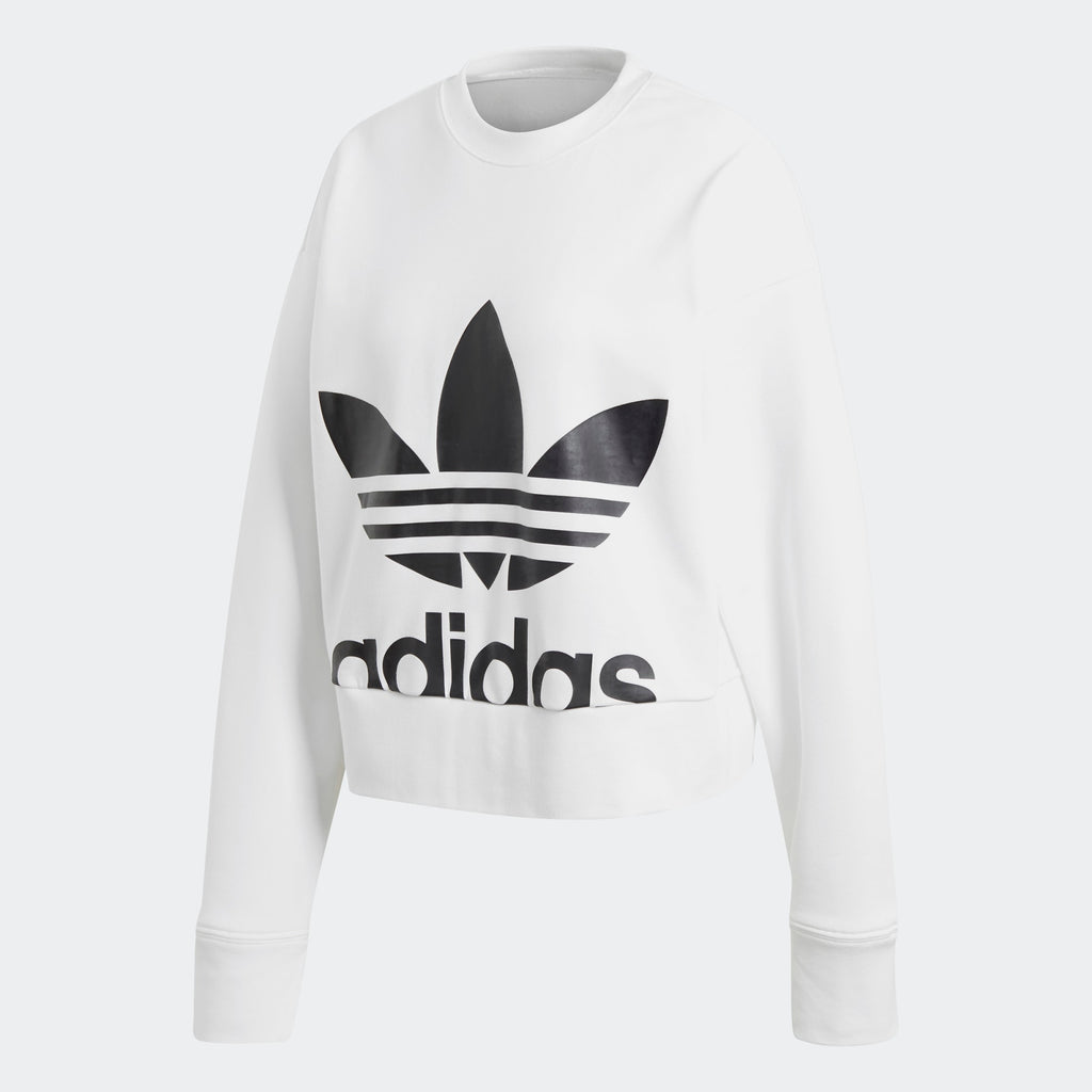 Women's adidas Originals Back Slit Sweatshirt White
