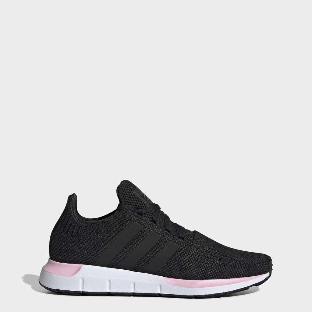 Women's adidas Originals Swift Run Shoes Black Pink