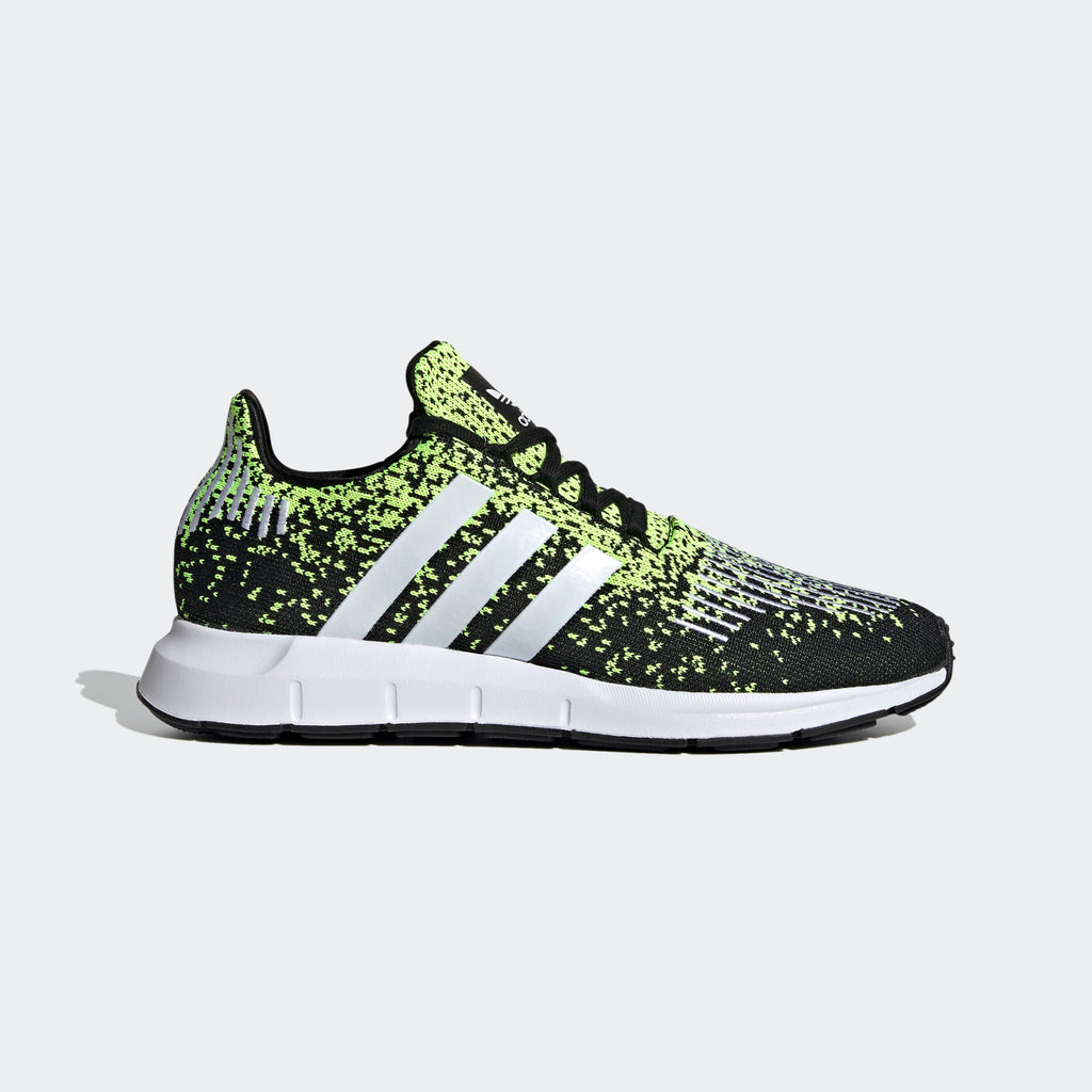 Men's adidas Originals Swift Run Shoes Black Solar Yellow