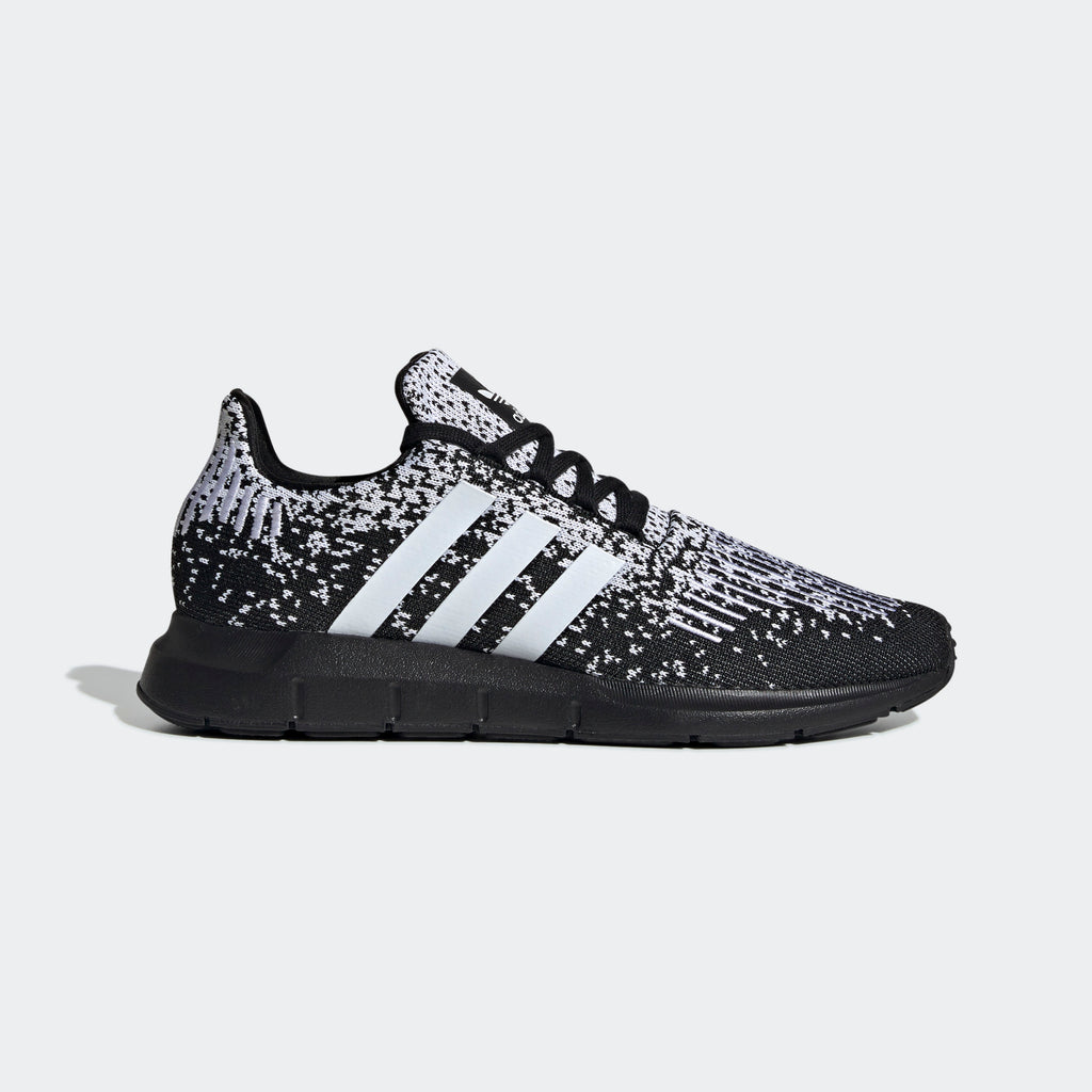 Men's adidas Originals Swift Run Shoes Black White