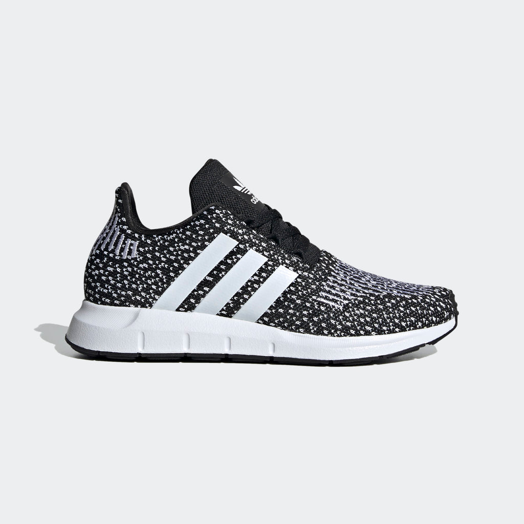 Kid's adidas Originals Swift Run Shoes Black White