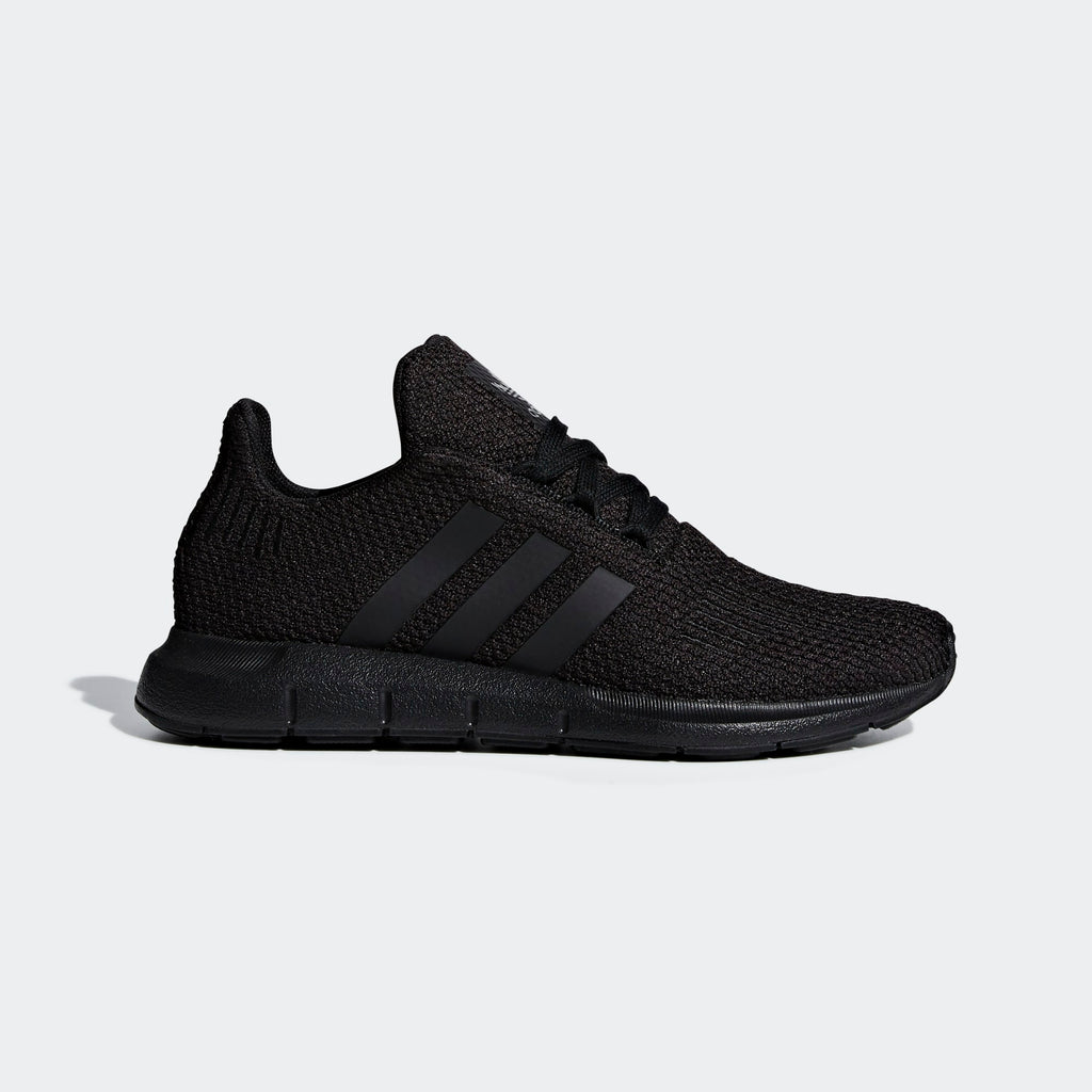 Kid's adidas Originals Swift Run Shoes Triple Black