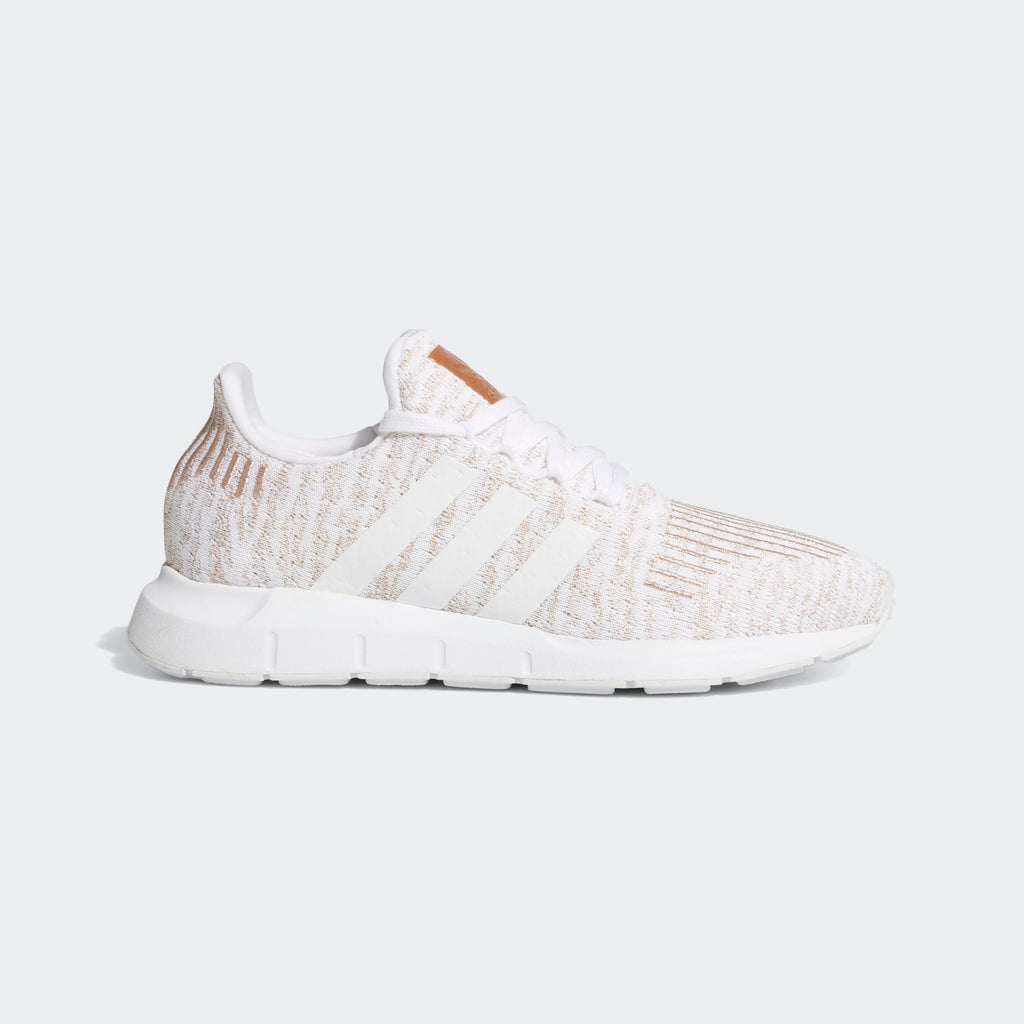 Women's adidas Originals Swift Run Shoes White Copper Metallic