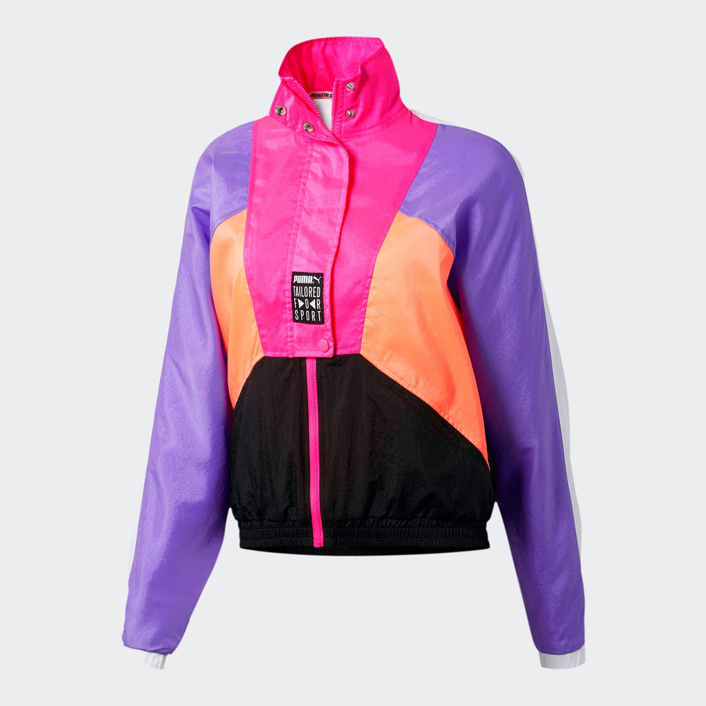 Women's PUMA Tailored for Sport OG Retro Track Jacket Fluo PInk