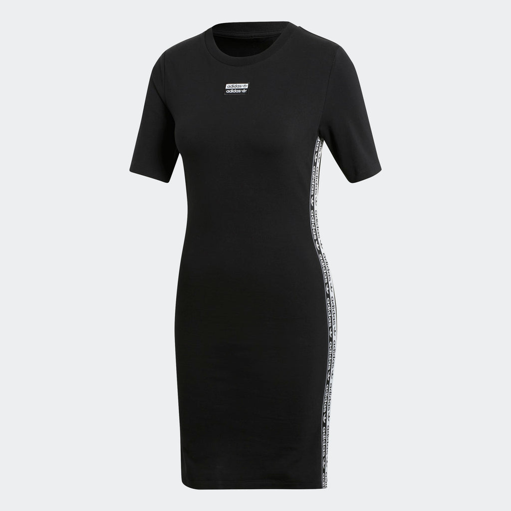 Women's adidas Originals Tape Dress Black