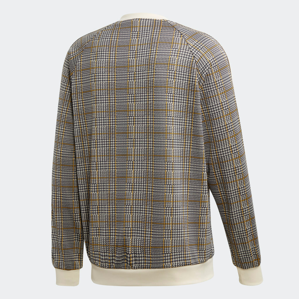 Men's adidas Originals Tartan Crewneck Sweatshirt White