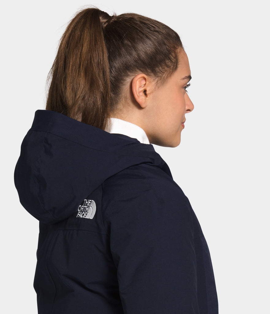 Women's The North Face New Outer Boroughs Parka Navy NF0A4R3JRG1 | Chicago City Sports | side rear view