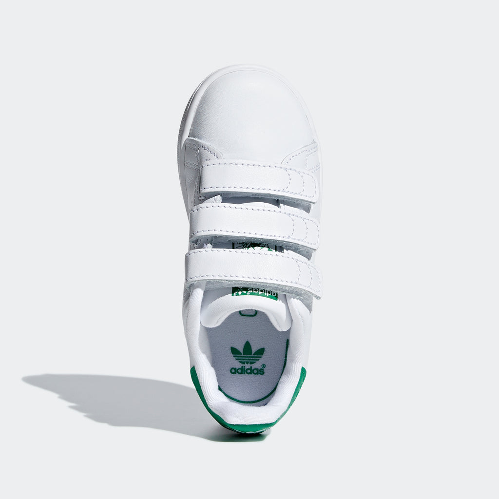 Toddler's adidas Originals Stan Smith Shoes Cloud White Green