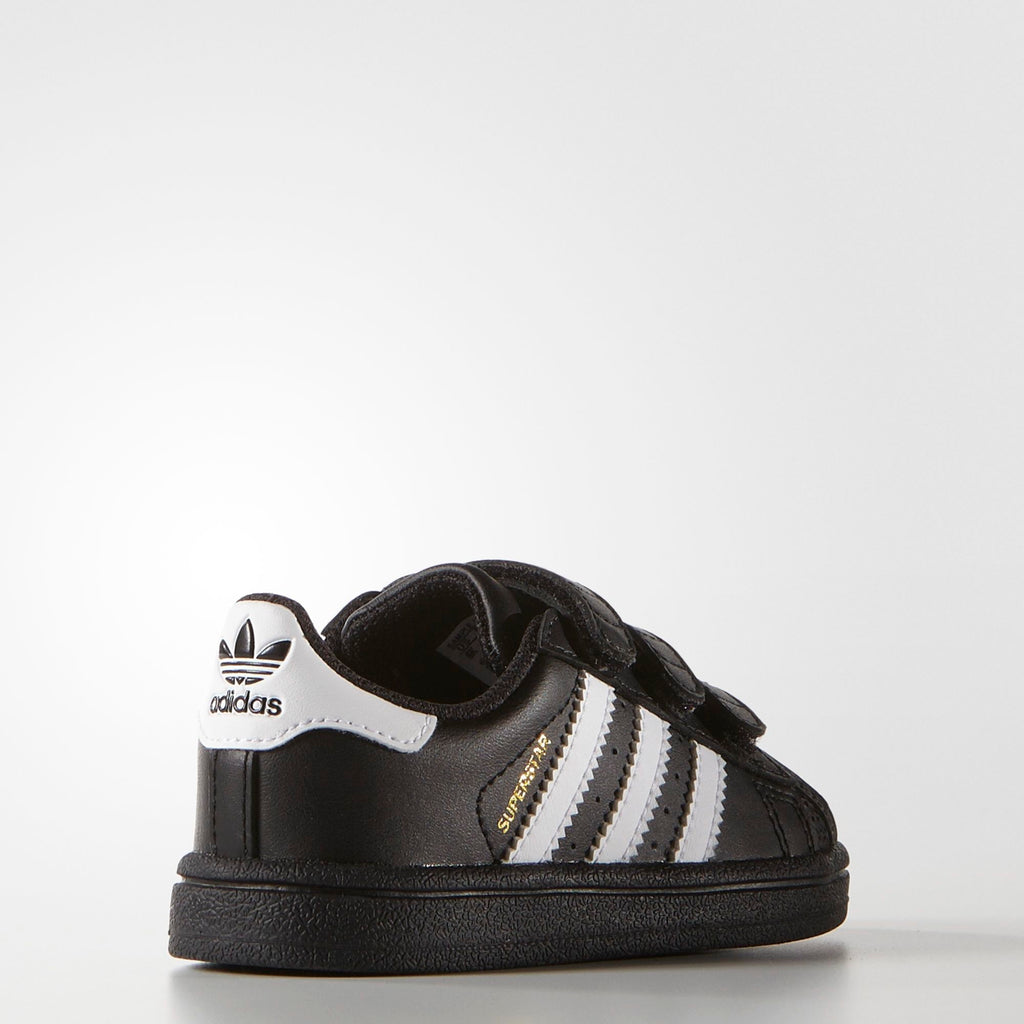 Toddler's adidas Superstar Foundation Comfort Strap Shoes Core Black