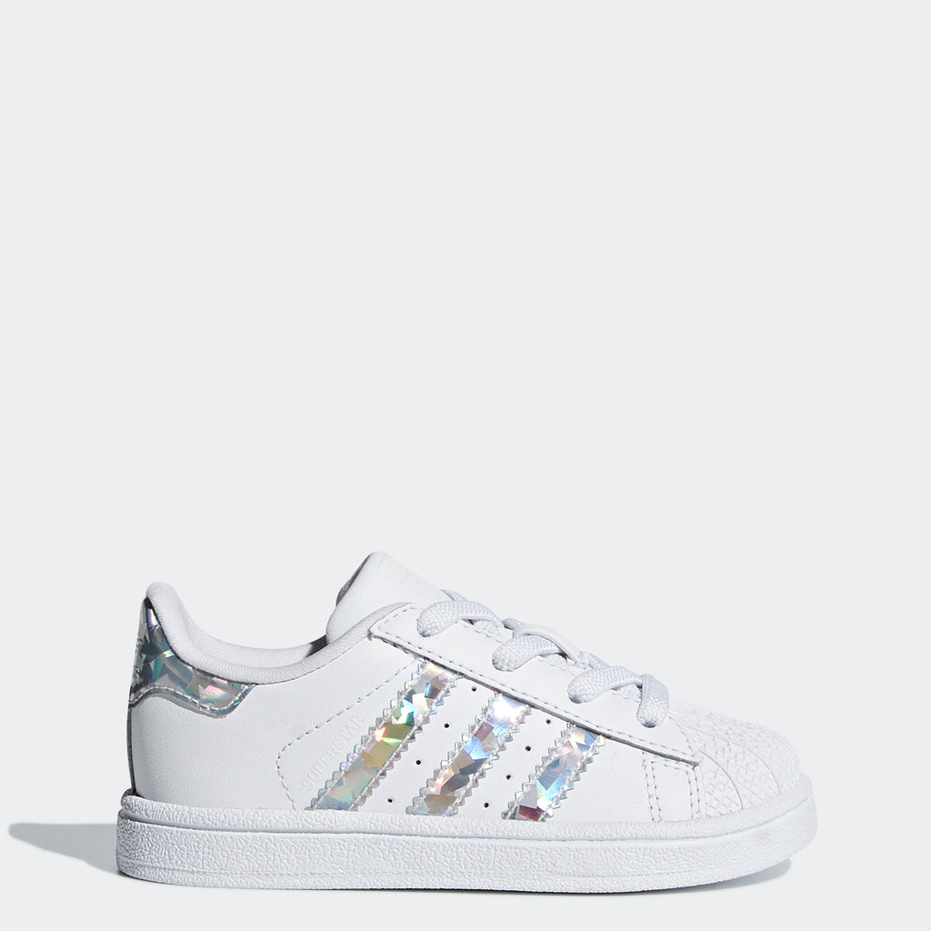 Toddler's adidas Originals Superstar Shoes White Silver