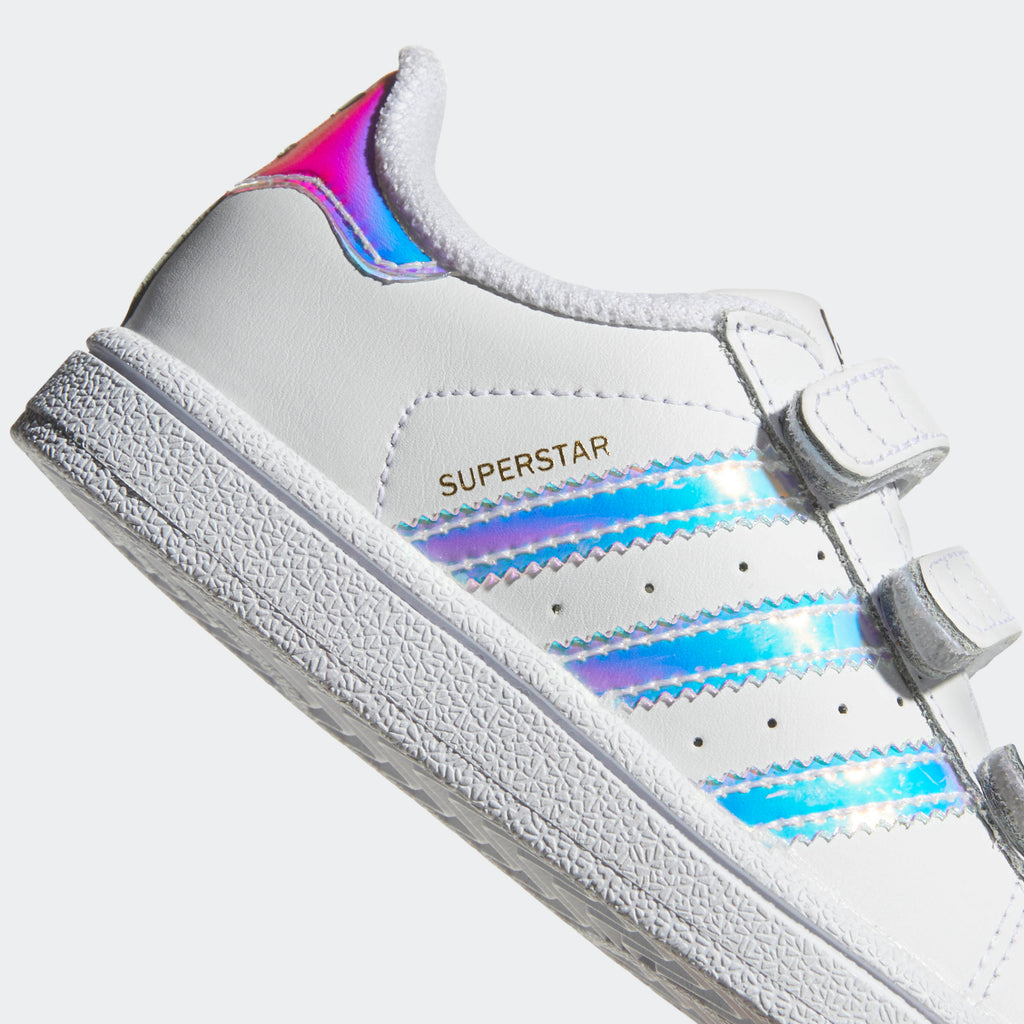 Toddler's adidas Originals Superstar Velcro Shoes Iridescent