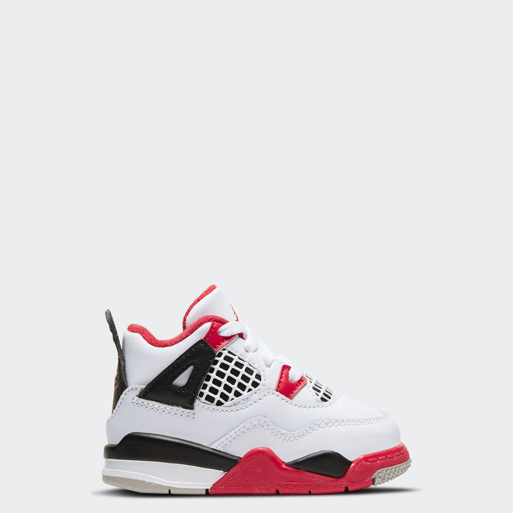 "Toddlers' Air Jordan 4 Retro TD ""Fire Red"" 