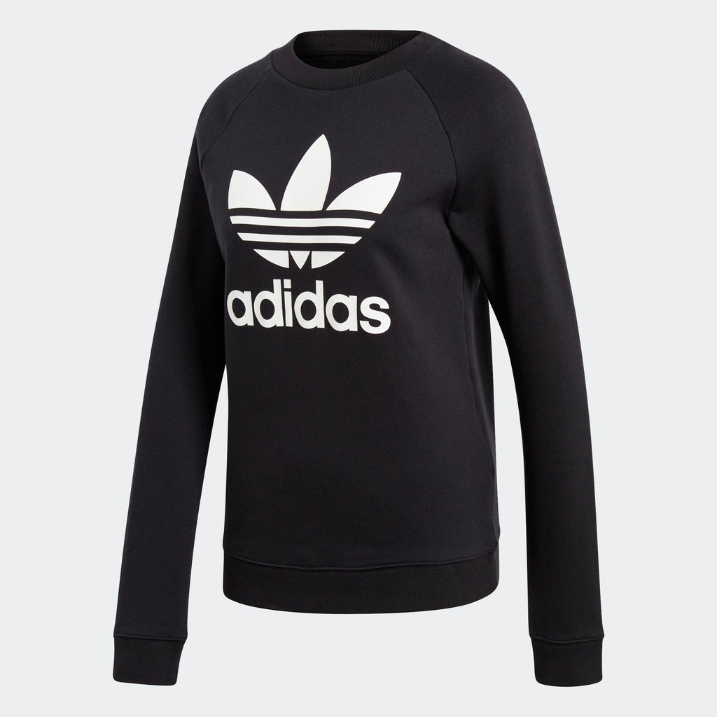 Women's adidas Originals Trefoil Crewneck Sweatshirt Black
