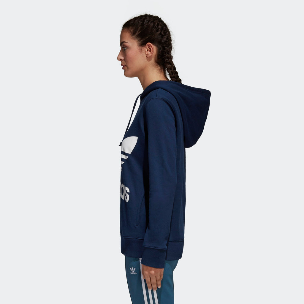 Women's adidas Originals Trefoil Hoodie Collegiate Navy